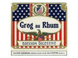 Grog au Rhum Boisson Digestive Rum Label