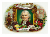 Thomas Jefferson Brand Cigar Inner Box Label