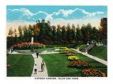 Peoria  Illinois  Glen Oak Park View of the Sunken Garden