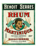 Toulouse  France  Rhum Martiniqua Benoit Serres Brand Rum Label