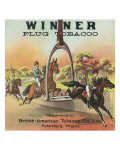 Petersburg  Virginia  Winner Brand Plug Tobacco Label