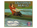 Fullerton  California  California Maid Brand Citrus Label