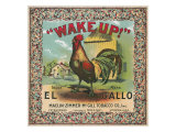 Petersburg  Virginia  Wake Up Brand Tobacco Label