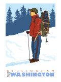 Snow Hiker  Bellingham  Washington