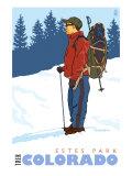 Snow Hiker  Estes Park  Colorado