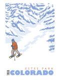 Stylized Snowshoer  Estes Park  Colorado
