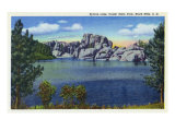 Custer State Park  South Dakota  View of Sylvan Lake in the Black Hills