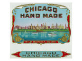Chicago Hand Made Brand Cigar Box Label