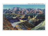 Badlands National Park  South Dakota  View of the Erosion on the Rocks