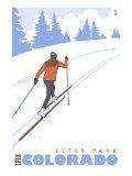 Cross Country Skier  Estes Park  Colorado
