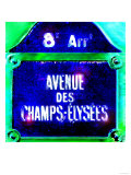Ave Champs-Elysees Sign  Paris