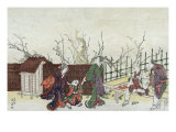 Villa in Kamedo  Japanese Wood-Cut Print