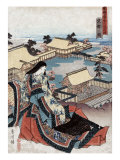 View of Kyoto  Japanese Wood-Cut Print