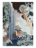 Ono Falls on the Kisokaido  Japanese Wood-Cut Print