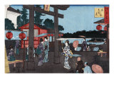 Tenman Shrine at Yushima  Japanese Wood-Cut Print