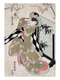 The Actor Segawa Kikunojo as Hashihime  Japanese Wood-Cut Print