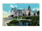 Asheville  North Carolina  Exterior View of the Biltmore Mansion with Lily Pools