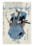 Actor Onoe Kikugoro III as Oboshi Yuranosuke  Japanese Wood-Cut Print