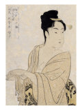 Flirtatious Lover  Japanese Wood-Cut Print