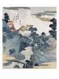 Evening View of Fuji  Japanese Wood-Cut Print
