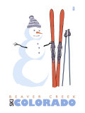 Beaver Creek  Colorado  Snowman with Skis
