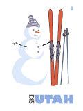 Utah  Snowman with Skis