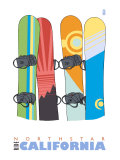 Northstar  California  Snowboards in the Snow