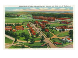 Fort Knox  Kentucky  Aerial View of the Entrance Drive  1st Cavalry Barracks