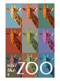 Visit the Zoo  Giraffe as Pop Art