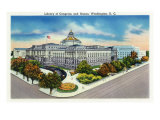 Washington  DC  Exterior View of the Library of Congress and Annex