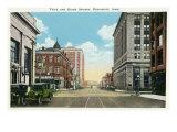 Davenport  Iowa  Views of the Third and Brady Streets