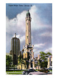 Chicago  Illinois  Exterior View of the Famed Water Tower