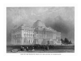 District of Columbia  Washington  Exterior View of the Capitol Front