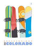 Breckenridge  Colorado  Snowboards in the Snow