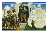 View of Parachute Troops