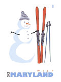 Wisp  Maryland  Snowman with Skis