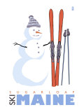 Sugarloaf  Maine  Snowman with Skis