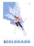 Telluride  Colorado  Stylized Skier