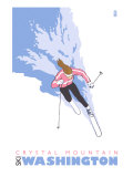 Crystal Mountain  Washington  Stylized Skier