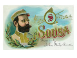 Sousa Brand Cigar Box Label  John Philip Sousa  American Composer and Conductor