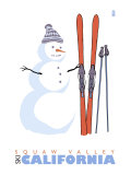 Squaw Valley  California  Snowman with Skis