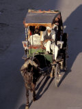Caleche (Horse-drawn Carriage) From Above  Morocco