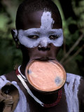 Surma Tribesmen with Lip Plate  Ethiopia