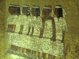 Hieroglyphic Mourners at King Tutankhamun's Sarcophagus  Egypt