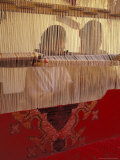 Women Knotting Berber Carpet on Loom  Morocco