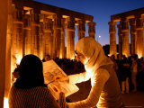 Drawing Classes for Women in the Temple of Thebe Area  Egypt
