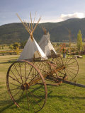 Tepees and Antique Farm Equipment  British Columbia  Canada