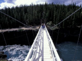 Bridge Spans Miles Canyon on Yukon River  Whitehorse  Yukon  Canda