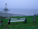Sandy Point Lighthouse on a Foggy Morning  Nova Scotia  Canada