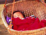 Sleeping Baby in Hanging Basket  Hue  Vietnam